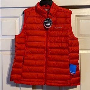 Bright red Columbia vest